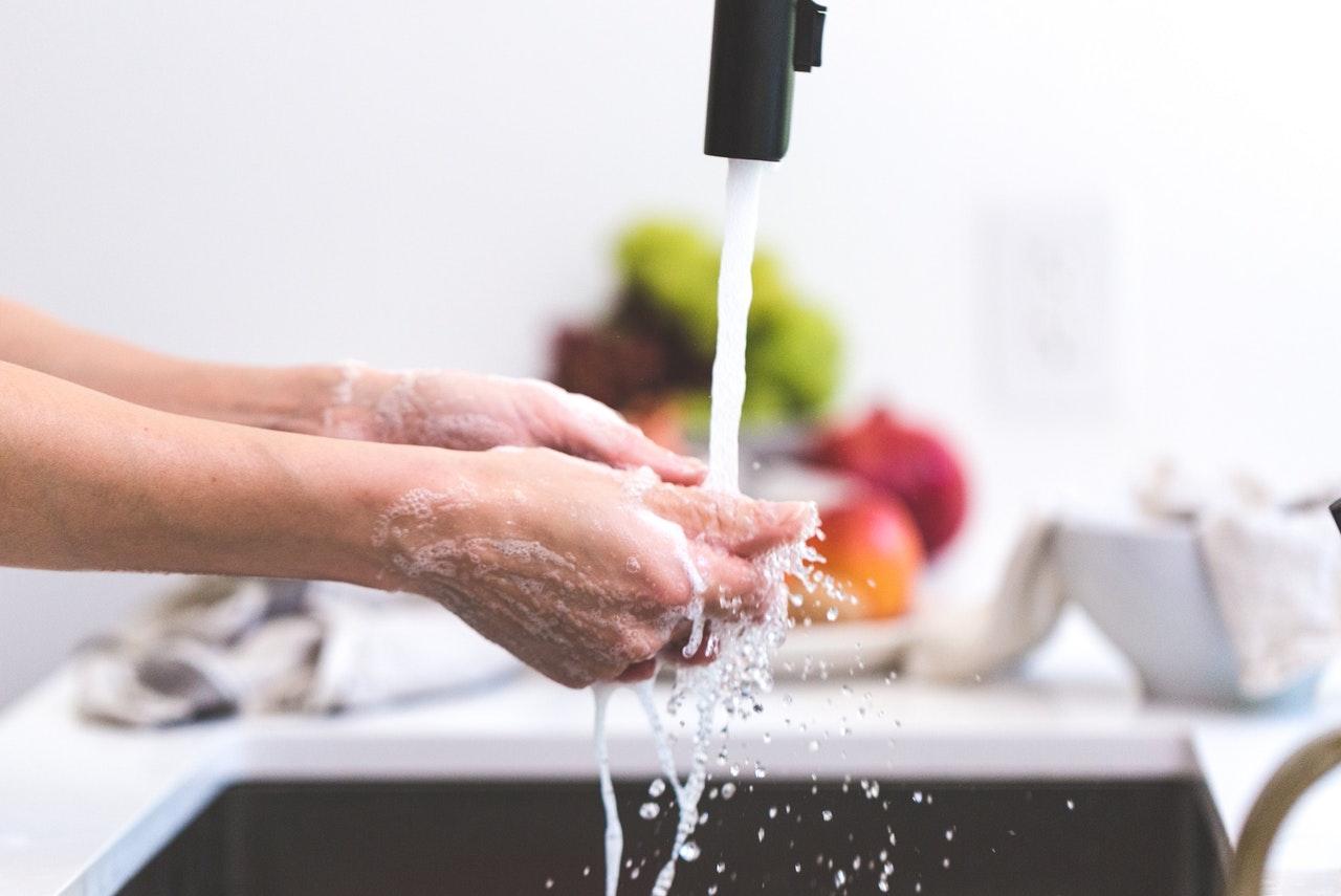 Handen wassen - header afbeelding